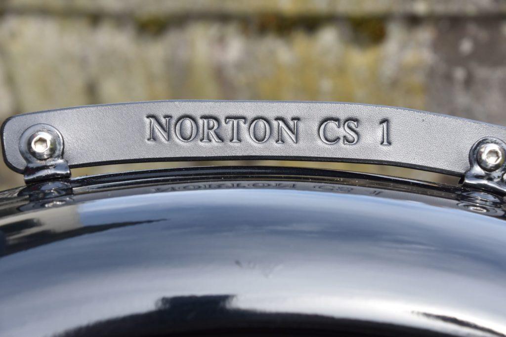 Motorrad Kennzeichen Plate Norton CS-1 schwarz