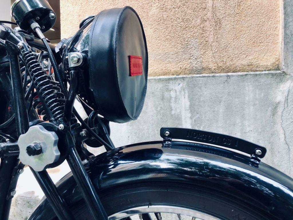 Motorrad Kennzeichen Plate Leder schwarz