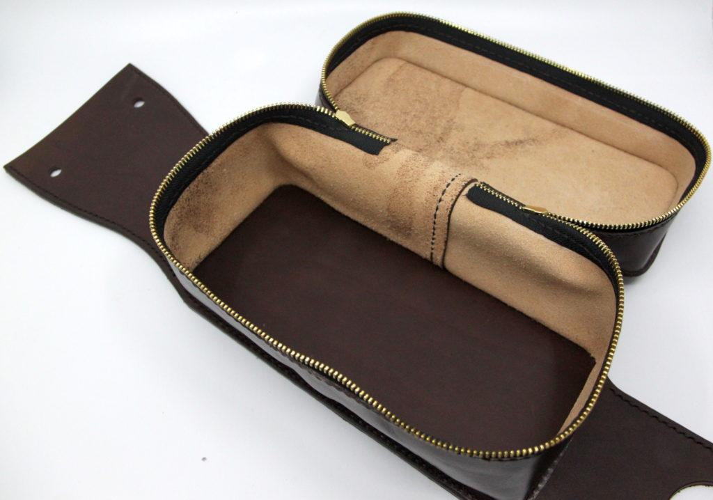 Tankrucksack aus Leder braun