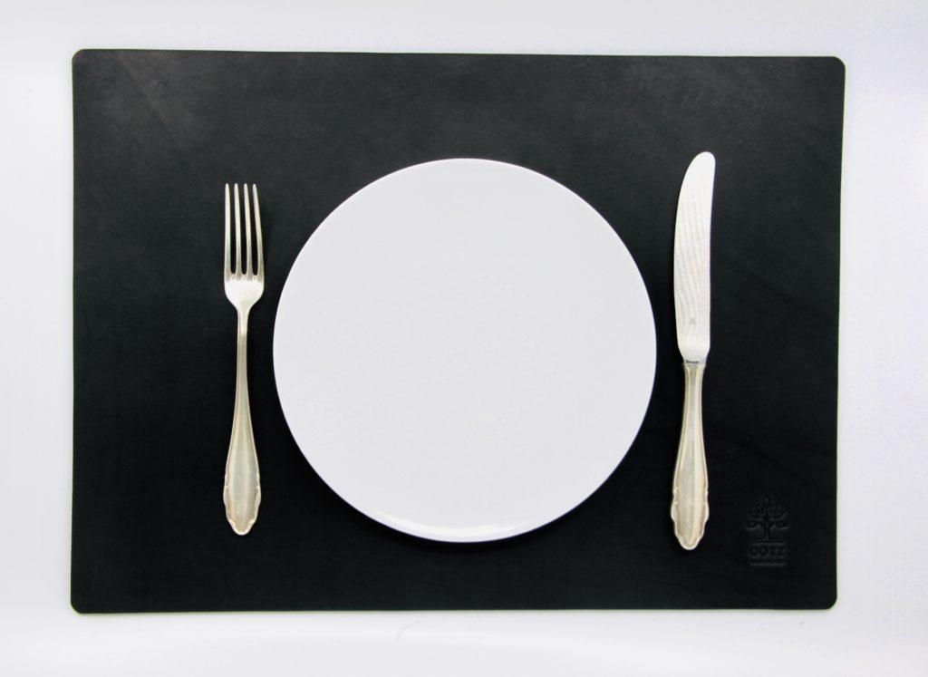 Personalisierbares Tischset aus Leder
