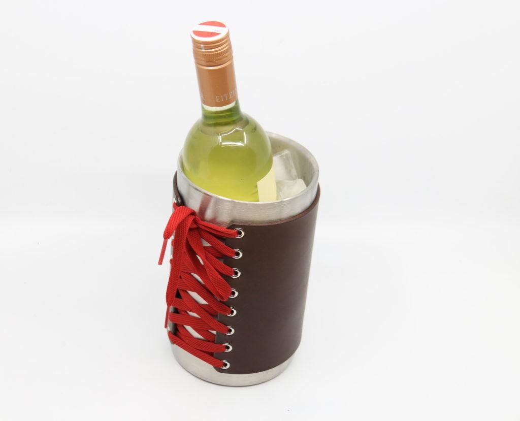 Weinkühler Korsett aus Leder Götz Manufaktur