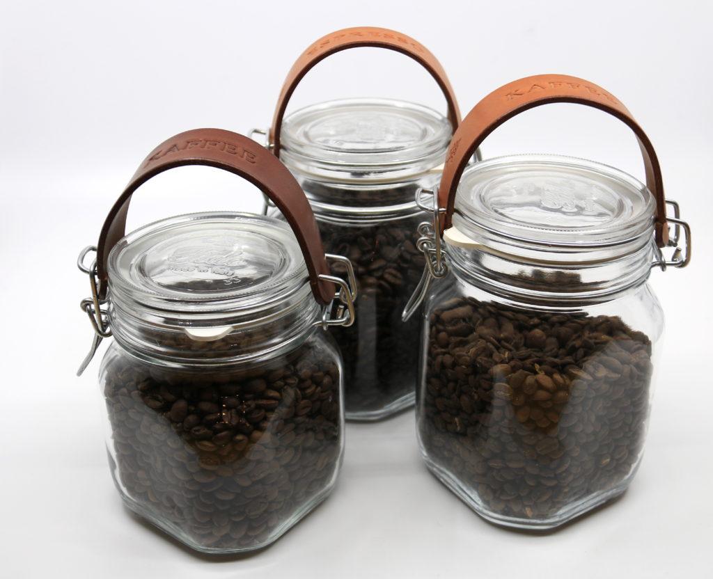 Einmachglas mit Lederriemen Götz Manufaktur