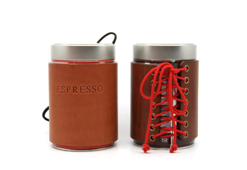 Kaffee- Dosen Korsett Leder Götz Manufaktur