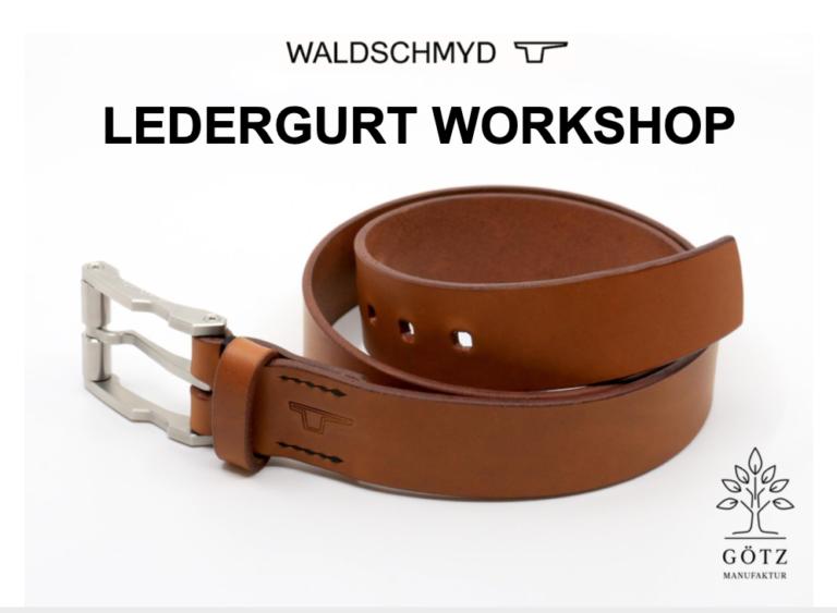 Götz Manufaktur Ledergürtel Workshop mit Waldschmyd High-Grade steel belt buckles