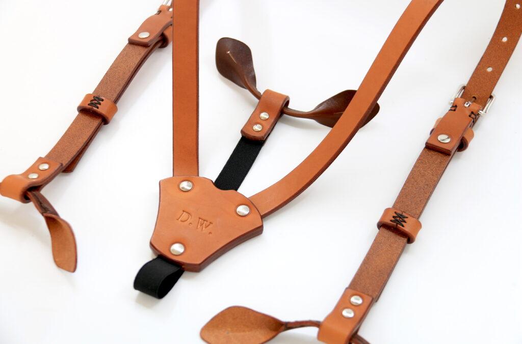 Hosenträger Leder mit Knopfclip Götz Manufaktur