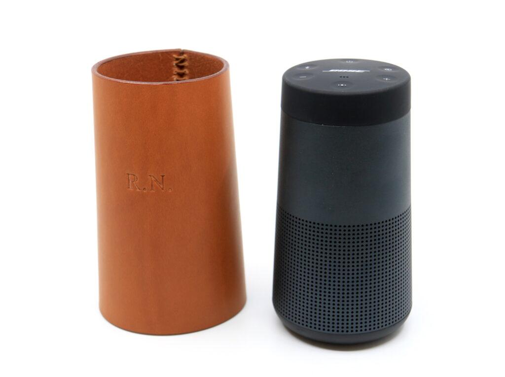 Bose Lautsprecher Lederverpackung hellbraun Götz Manufaktur